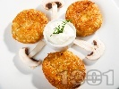 Рецепта Пържени рибени кюфтета с бял сос от кисело мляко и копър